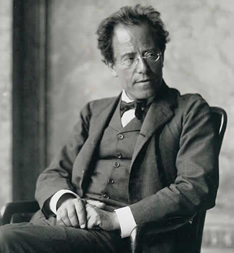 Gustav Mahler by Moritz Nähr